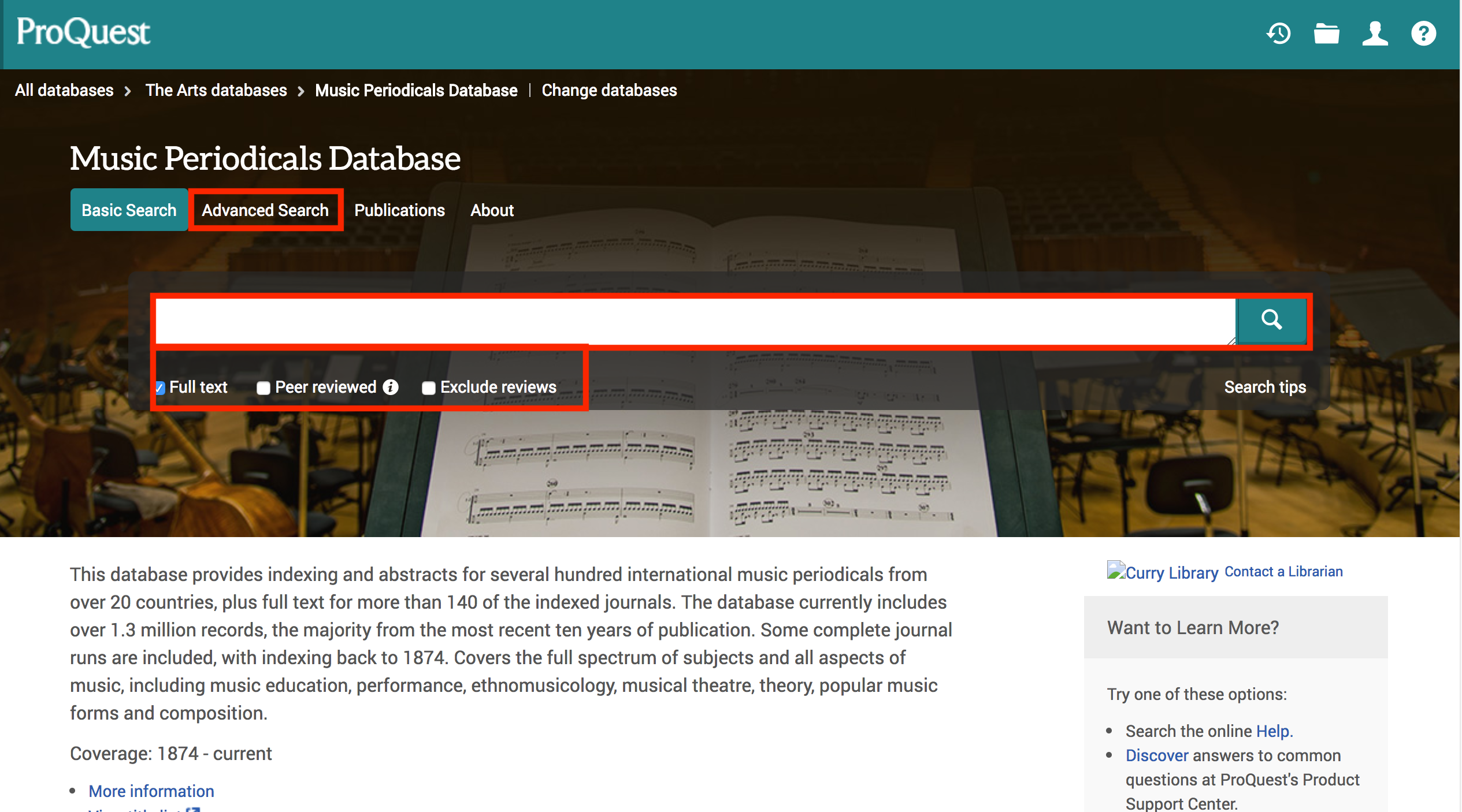 Database Guides   Curry Library Services